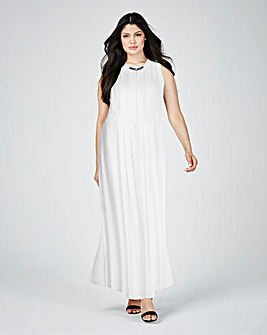 Lovedrobe Embellished Pleated Maxi Dress