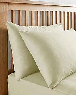 Ivory 180 TC Housewife Pillowcases