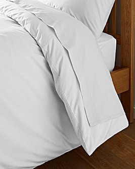 White Cotton Rich 180 TC Flat Sheet
