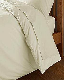 Ivory Cotton Rich 180 TC Flat Sheet