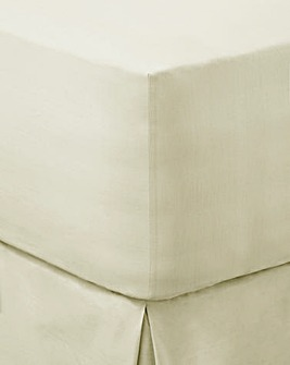 Ivory Cotton Rich 180 TC Fitted Sheet