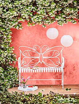 Butterfly Metal Bench