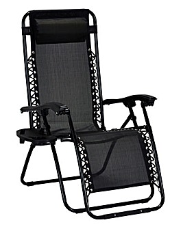Zero Gravity Relaxer Lounger Black