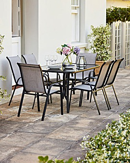 Wilmslow 6 Seat Stacking Dining Set