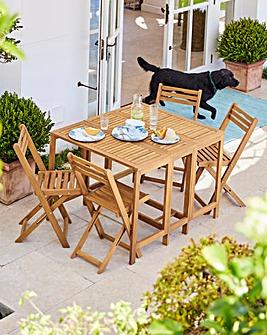 Barlow 4 Seat Foldable Dining Set