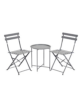 Maya Tray Bistro Set Grey