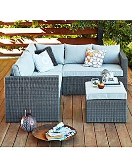 Melbury Corner Sofa Grey Rattan