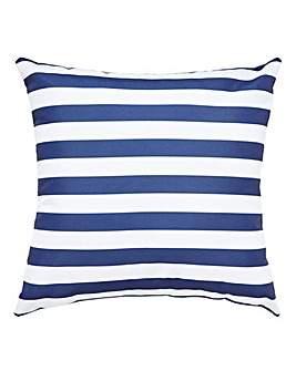 Navy Stripe Outdoor Cushion