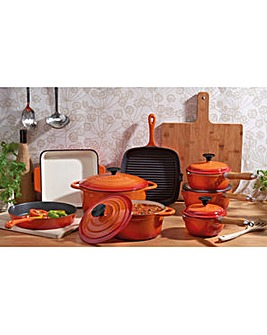 Cooks Professional 8Pc Cast Iron Pan Set