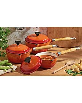 Cooks Professional 3Pc Cast Iron Pan Set