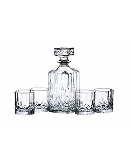 BarCraft Glass Effect Decanter Set