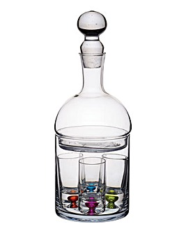 BarCraft Shot Glass & Decanter Set