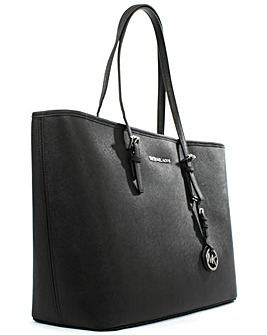 Michael Kors Leather Medium Top Zip Tote