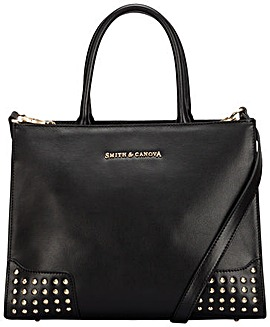 Smith & Canova Corner Studded E/w Tote