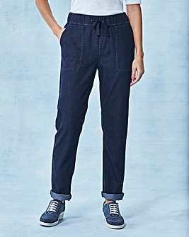 Relaxed Slouch Jeans Short
