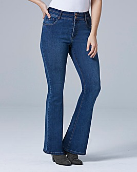 Blue Shape & Sculpt Bootcut Jeans Short