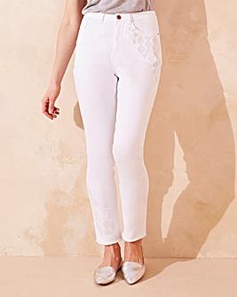 Hollie Embroidered Slim Leg Jeans