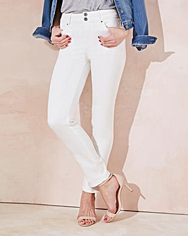 White Shape & Sculpt Straight Jeans Long
