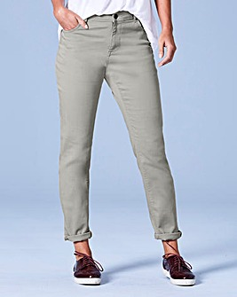 Sadie Sage Green Relaxed Jeans Long