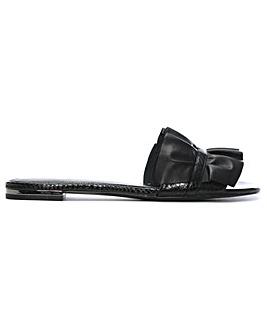 42fc6494f6ea Michael Kors Leather Ruffle Mules
