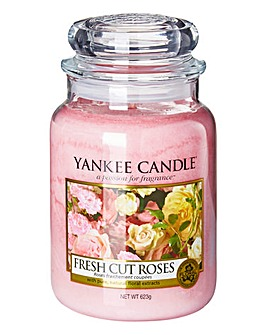 Yankee Candle Fresh Cut Roses Large Jar