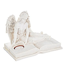 Graveside Angel with Tea Light Holder