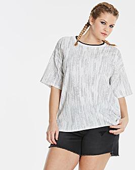 Simply Be Glitter Sports Neck T-Shirt