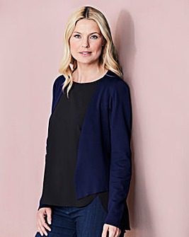 Navy Edge to Edge Shrug