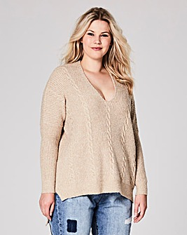 Lace-Up Cable Jumper