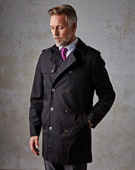 W&B London Black Raincoat