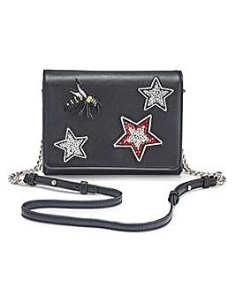 Shoulder Bag With Patches