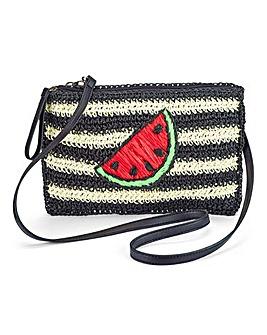 Watermelon Straw Clutch Bag