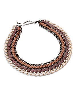 Statement Multi Chain Fabric Necklace