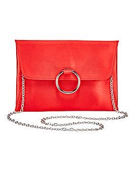 Sophie Red Ring Detail Clutch Bag