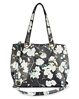 Mia Floral Printed Shopper Bag