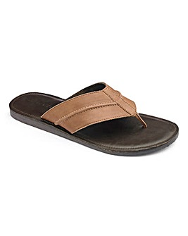 Trustyle Leather Toe Post Sandals