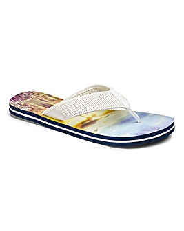 Sunset Printed Flip Flops
