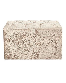 Boutique Buttoned Ottoman Box