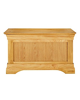 Malvern Solid Oak and Oak Veneer Ottoman