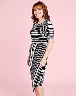 Lorraine Kelly Stripe Print Dress