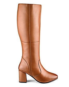 Leather Boots E Fit Ex Curvy Plus Calf