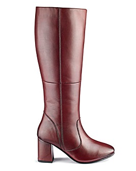 Leather Boots E Fit Super Curvy