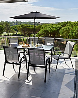 Monaco 7-Piece Garden Furniture Set