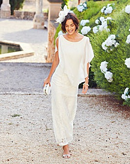 Joanna Hope Lace Maxi Dress With Overlay