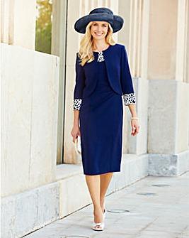 Joanna Hope Lace Trim Dress and Jacket