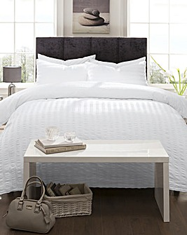 Reversible Seersucker Duvet Cover Set
