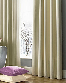 Plain-Dye Sateen Lined Pencil Curtains