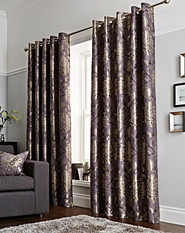 Elanie Luxury Lined Eyelet Curtain