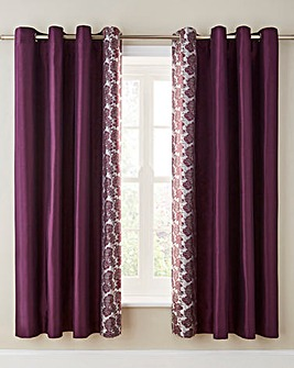 Astrid Embellished Lined Eyelet Curtains