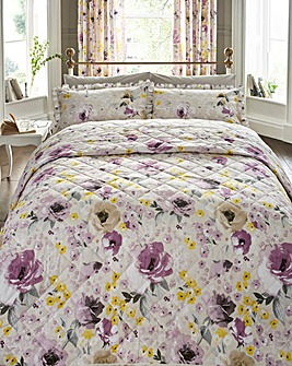 Heidi Cotton Printed Quilted Throwover